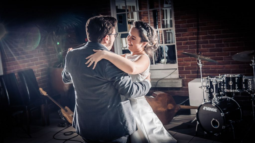 bride and groom first dance at Charlotte house hotel Lincoln