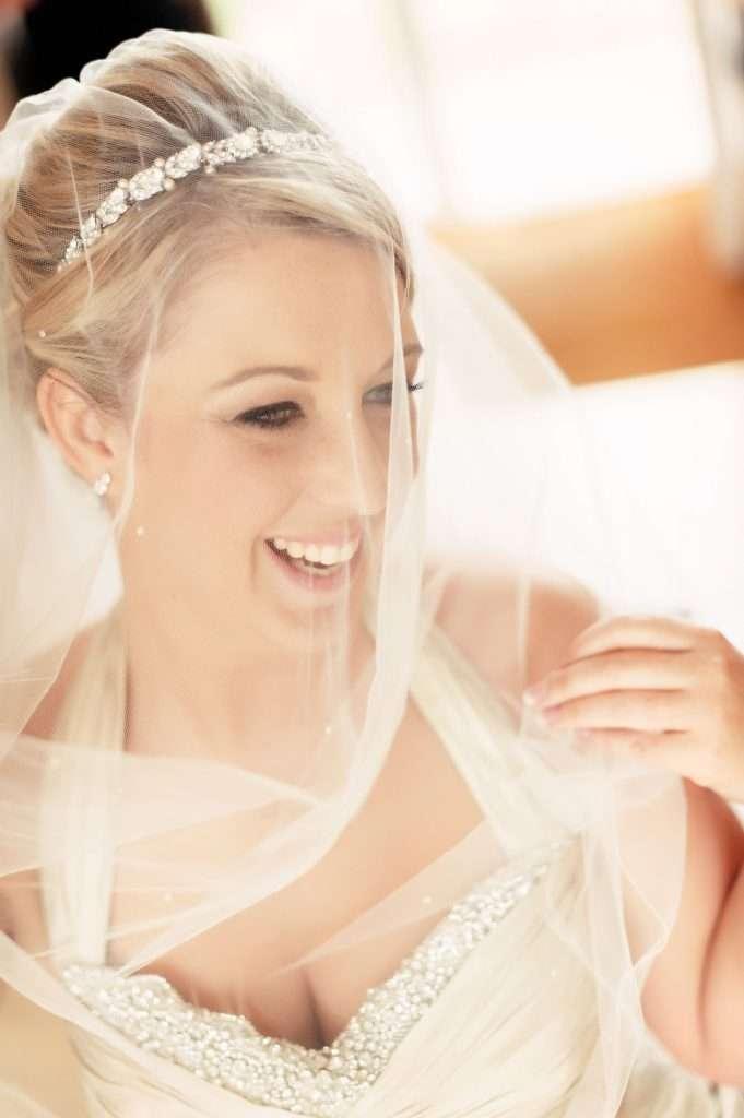 brie laughing through veil