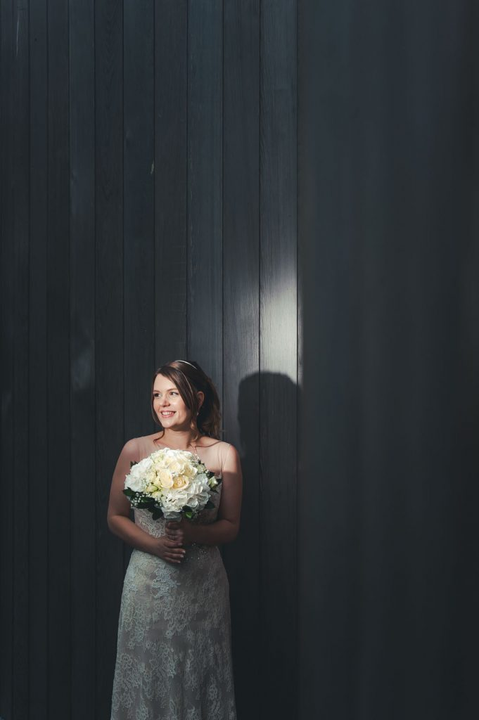 bride in spotlight