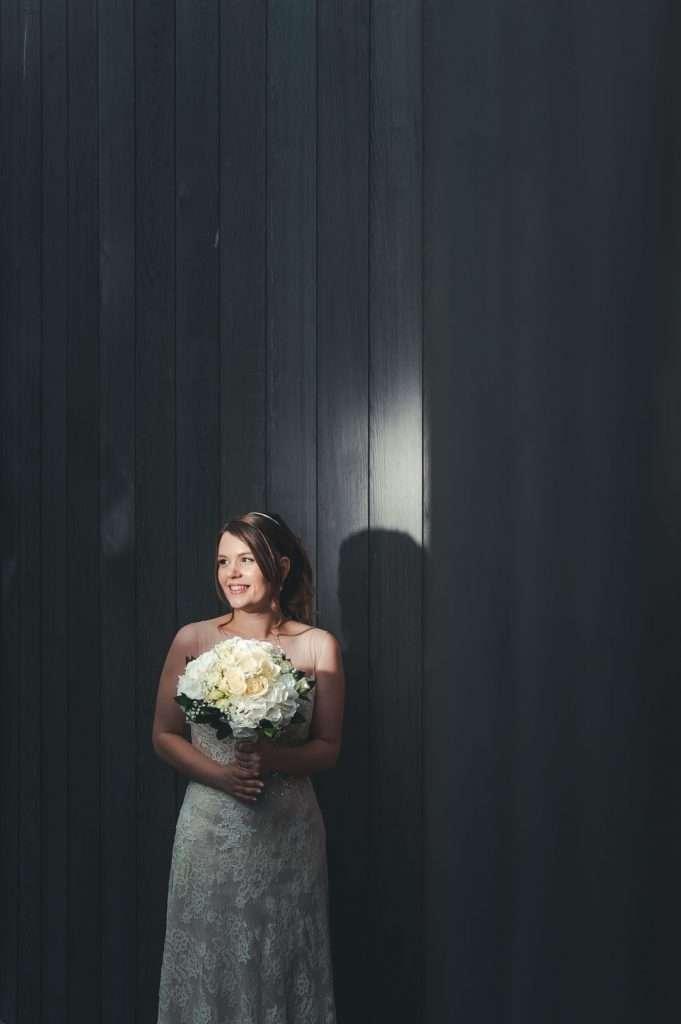 bride in spotlight