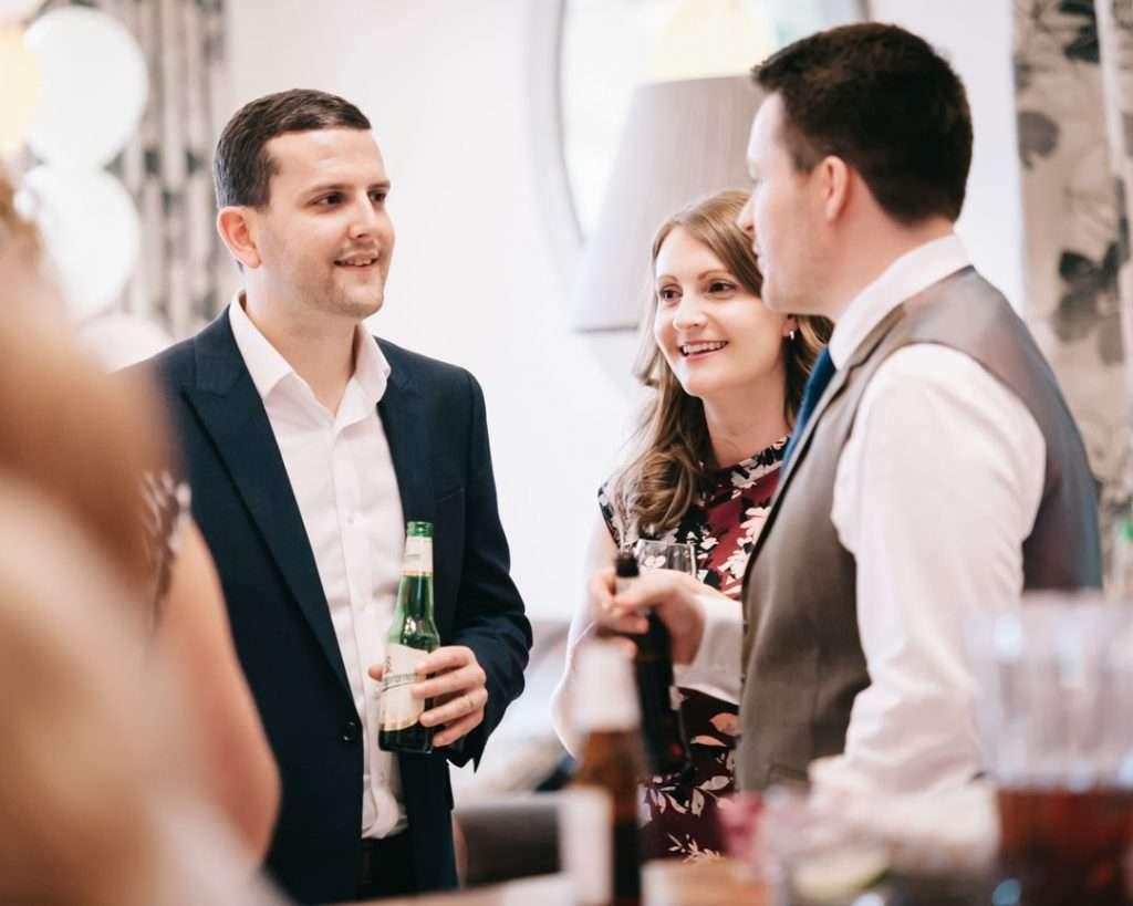 guests celebrating at wedding
